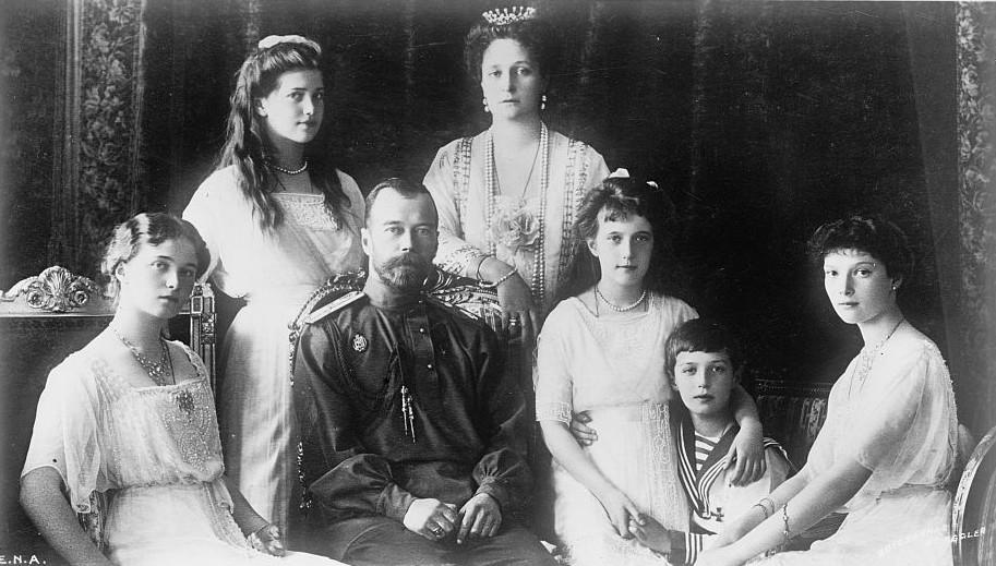 Семья Романовых 1914 год
