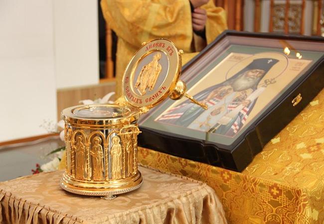 Мощи свт. Луки Войно-Ясенецкого в Донском монастыре