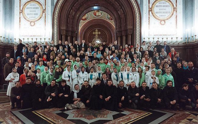 Праздничная служба в Храме Христа Спасителя